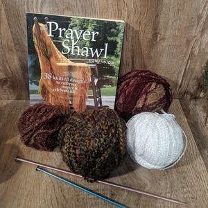 Yarn Crochet Needles and Book